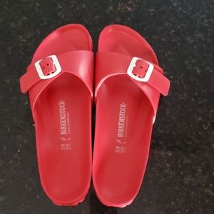 Birkenstock Red Rubber Shoes Unisex